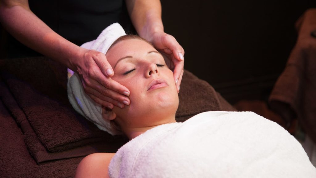 Beauty treatment at Barony Castle spa