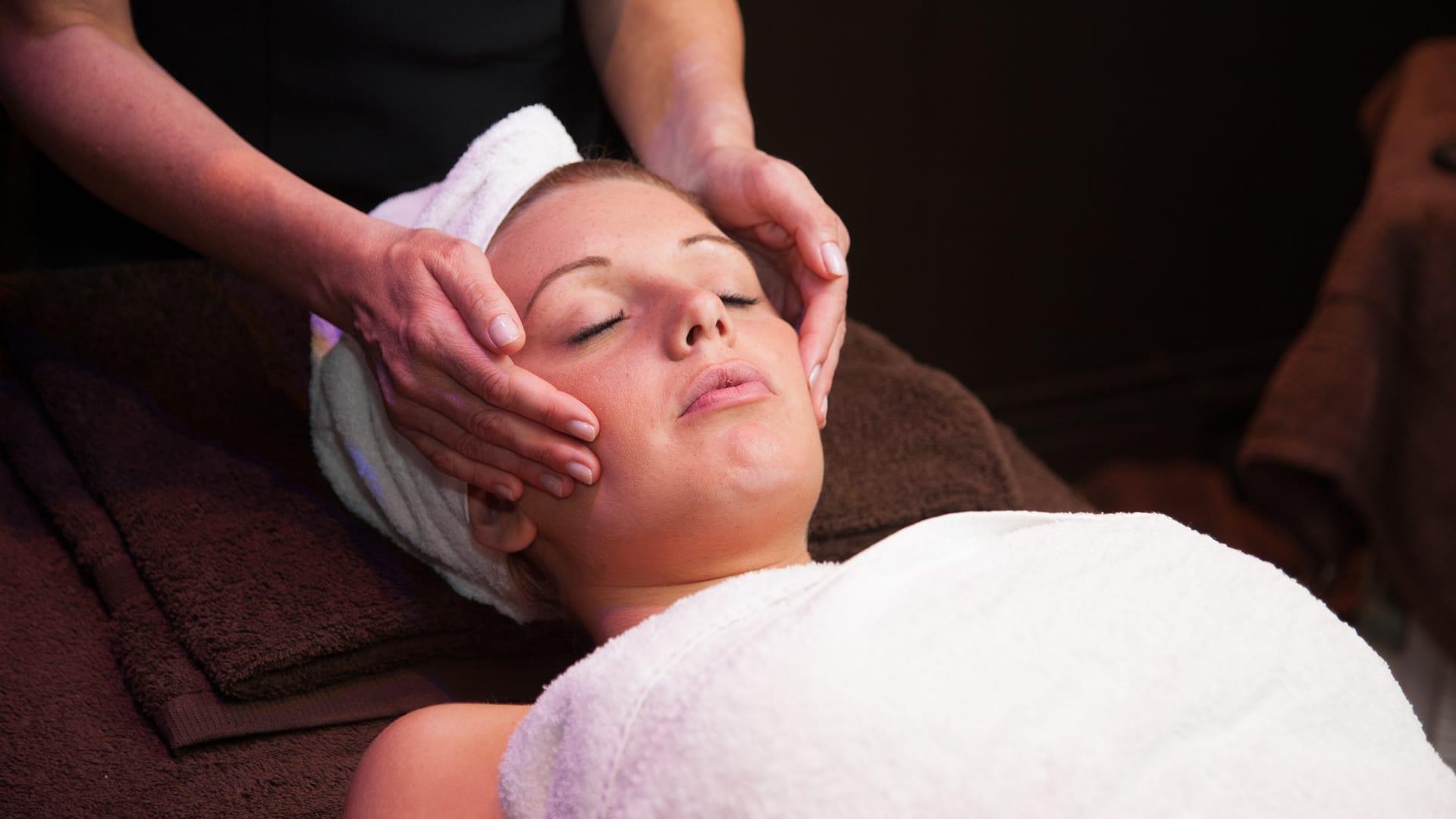Beauty treatment at Barony Castle spa
