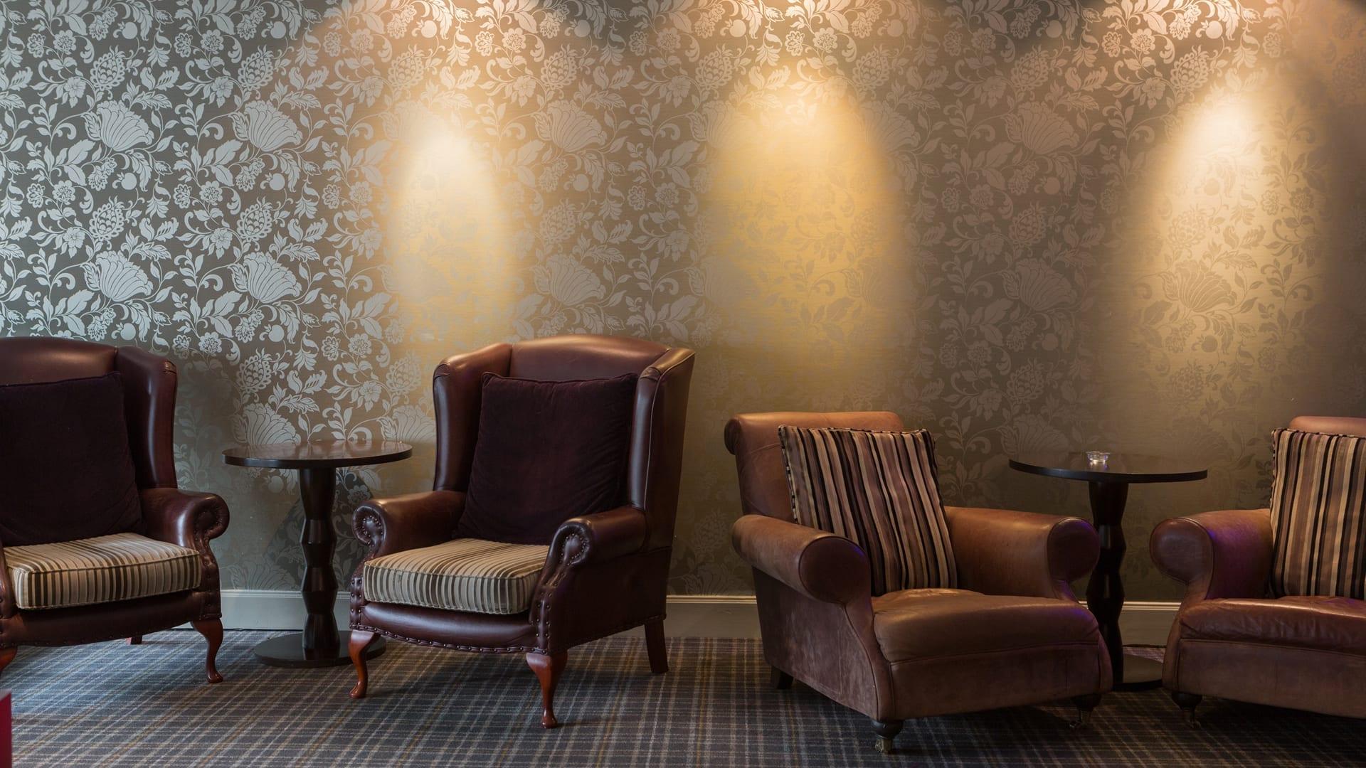Armchairs in the Blue Dug Bar