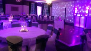 An evening reception in the Meldons Suite