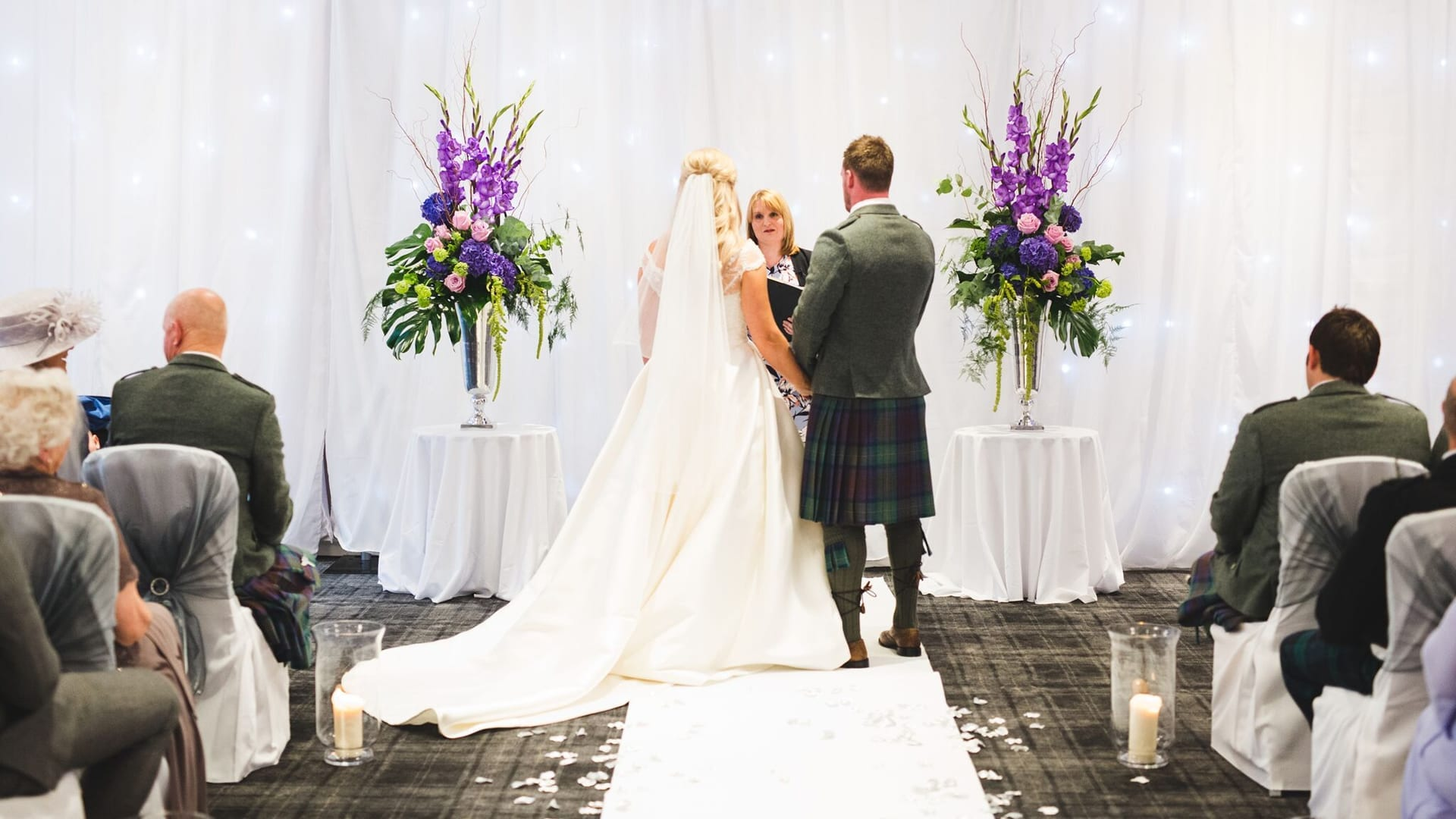 Wedding ceremony at Barony Castle
