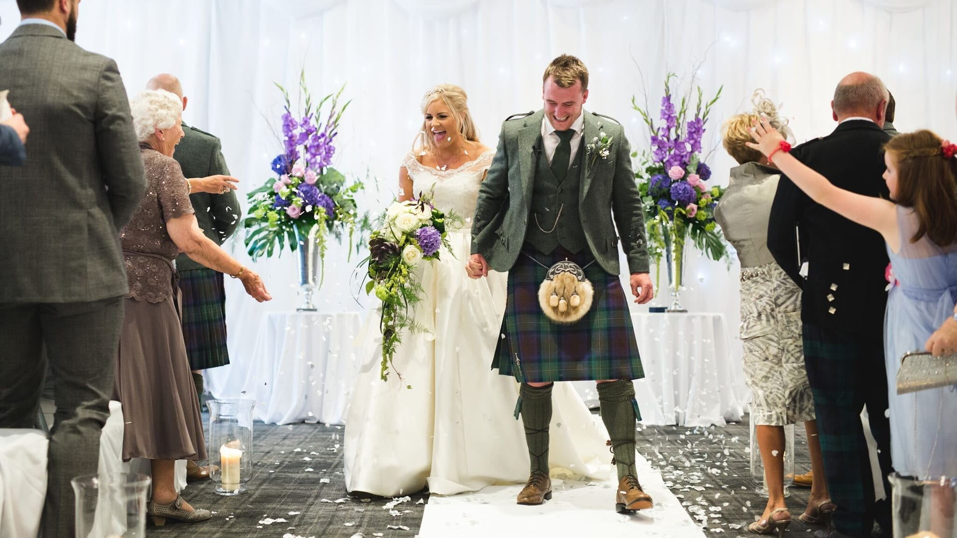 After wedding ceremony at Barony Castle