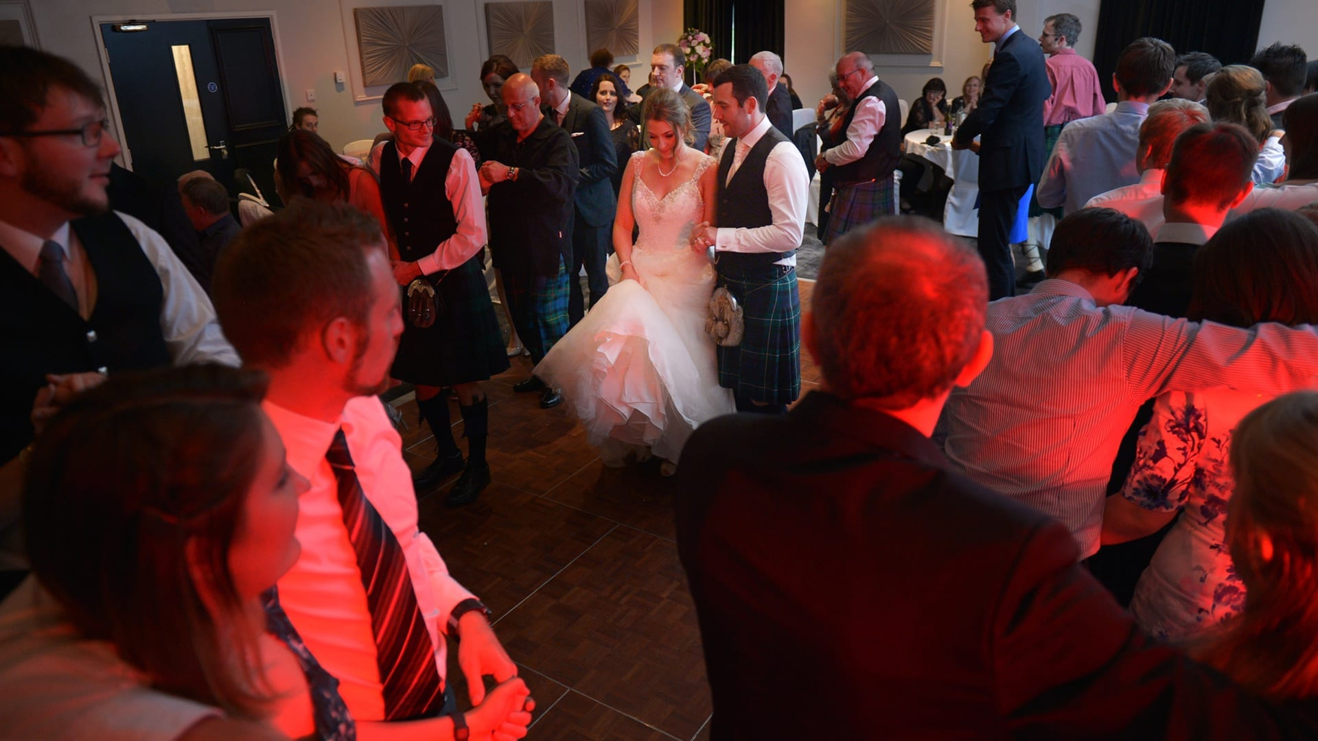 Ceilidh dancing at Barony Castle