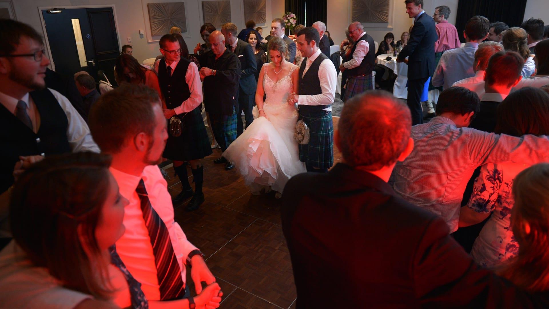 Ceilidh dancing at Barony Castle