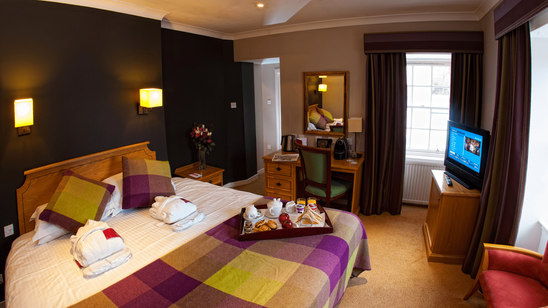 One of our rooms at Barony Castle Hotel